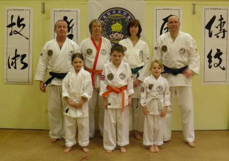 Successful members at grading with new Dan grades