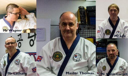 collage of the 5 Kettering Tang Soo Do instructors
